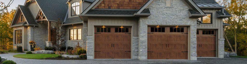 Gallery faux wood doors